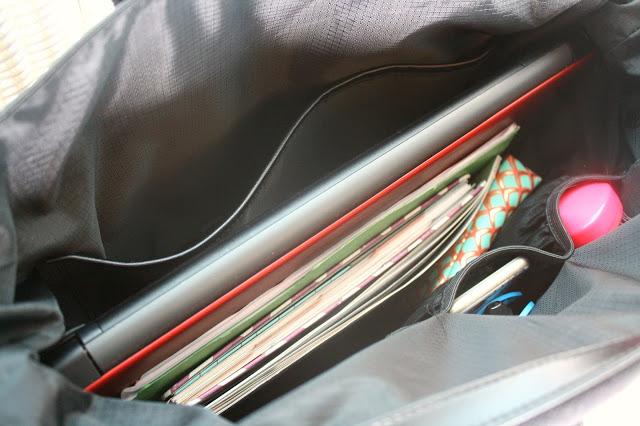 Luca Chiara Vegan Leather Tote Bag Review inside storage capacity
