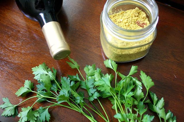 Vegan Parmesan Recipe on National Spaghetti Day table setup