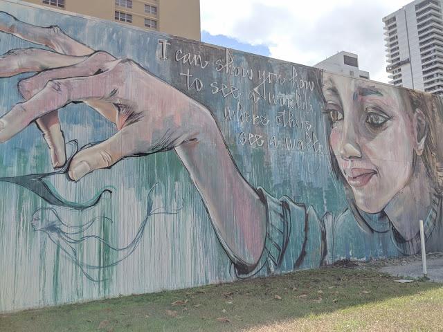 Herakut Mural with Mermaids in Downtown West Palm Beach