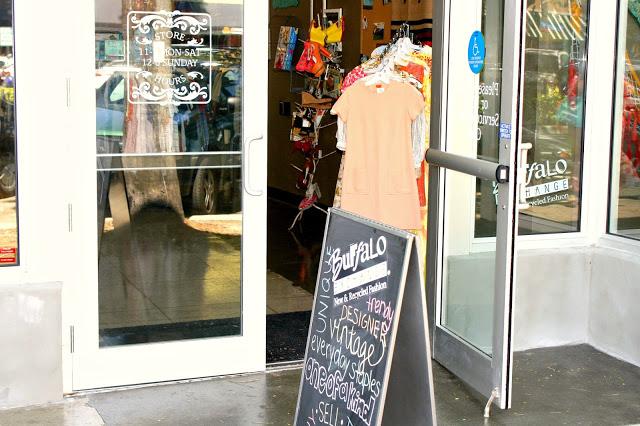 Buffalo Exchange Door with Signage