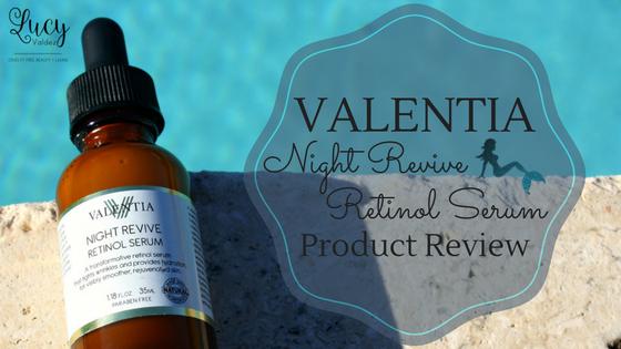 Valentia Night Revive Retinol Serum blog title
