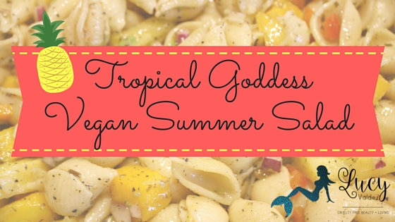 Tropical Goddess Vegan Summer Salad with Tessemae's Green Goddess Dressing