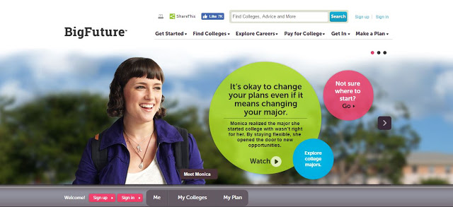 Understanding the FAFSA and College Admissions BigFuture landing page
