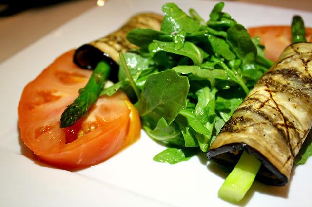 Cafe Med Ristorante Grilled Eggplant & Asparagus