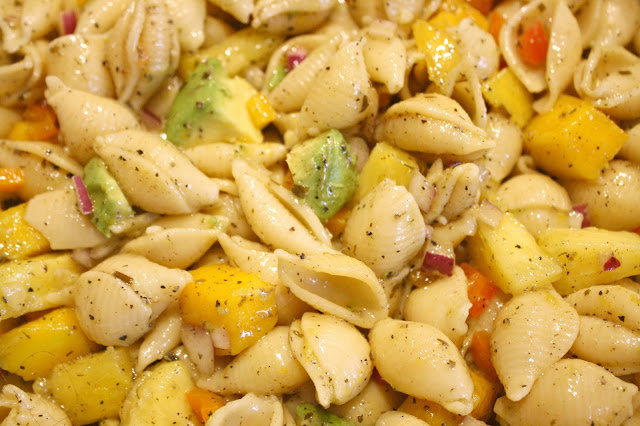 Tropical Goddess Vegan Summer Salad Close Up