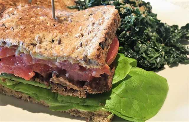 True Food Kitchen T.L.T. Sandwich with Kale Salad