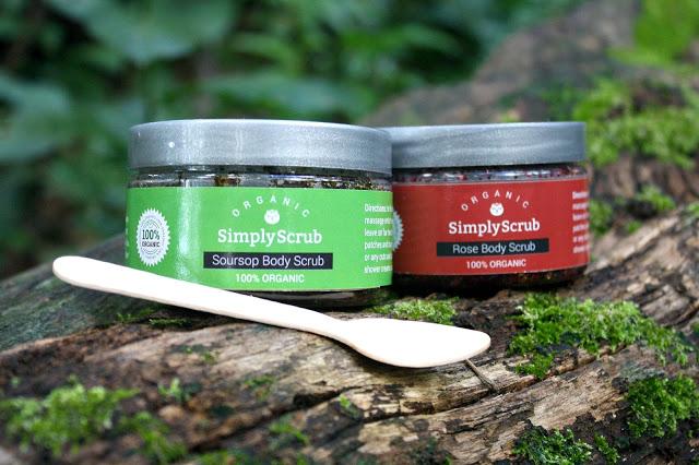 SimplyScrub 100% Organic Body Scrubs hero shot