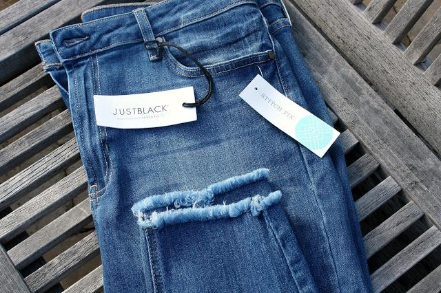 Stitch Fix Just Black Brie Frayed Hem Crop Skinny Jeans