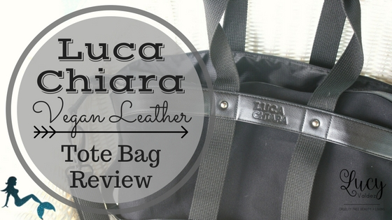 Luca Chiara Vegan Leather Tote Bag Review blog title