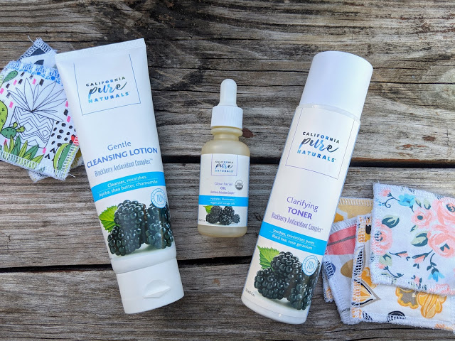 California Pure Naturals Skincare Line options for dry and anti aging skin