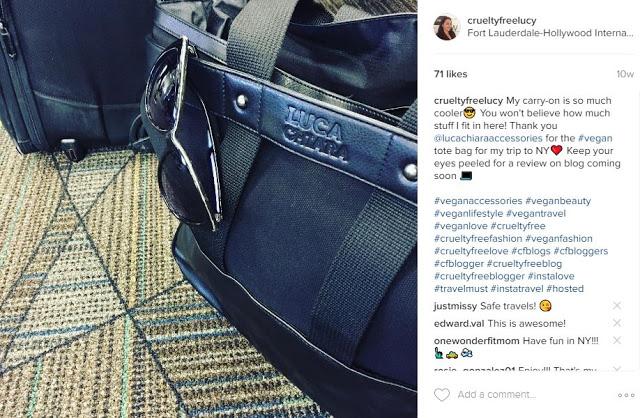 Luca Chiara Vegan Leather Tote Bag Review IG Post