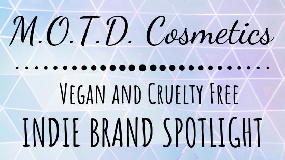 MOTD Cosmetics Vegan and Cruelty Free Brand Spotlight