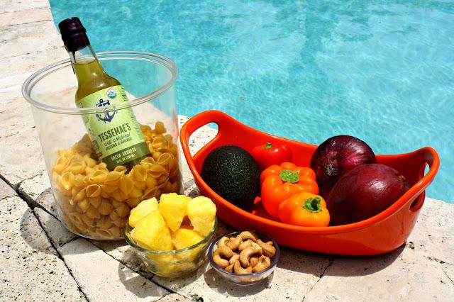 Tropical Goddess Vegan Summer Salad Ingredients