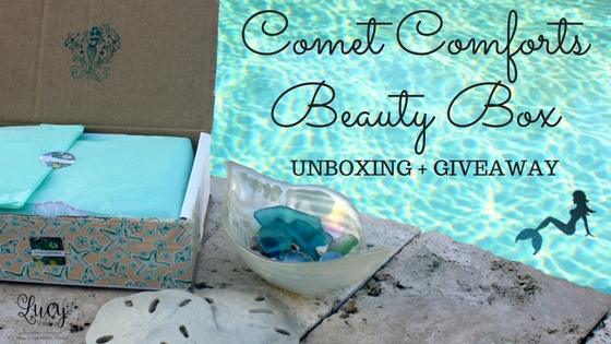 Comet Comforts Mermaid Beauty Box Review & Giveaway blog title