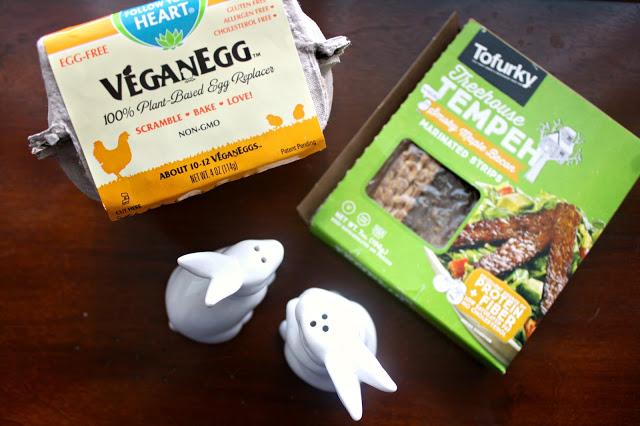 Vegan Staples for the Perfect Weekend Breakfast bacon and vegan egg breakfast staples