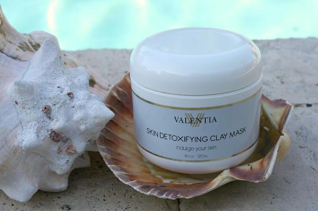 valentia skin detoxifying clay mask packaging