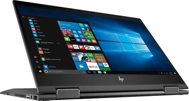 HP Envy x360 flip and fold design