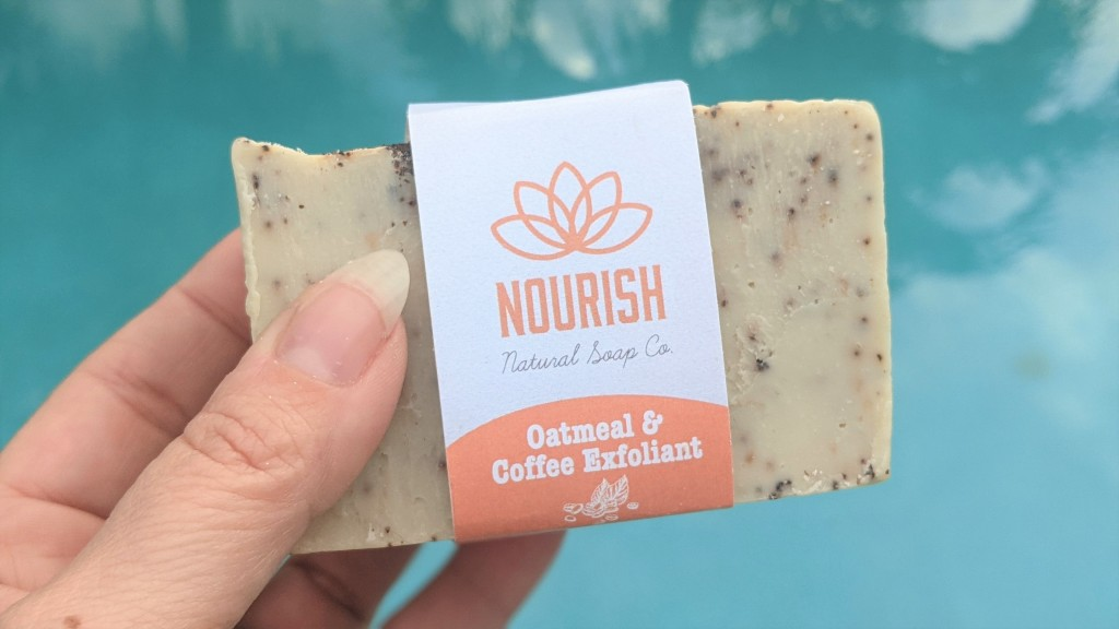 Nourish Natural Soap Co Oatmeal & Coffee Exfoliant Bar