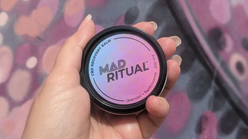 Mad Ritual CBD Recovery Balm packaging